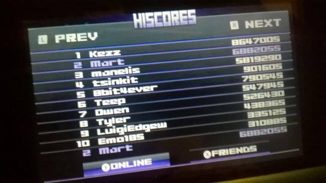 Titan Attacks! leaderboard screenshot